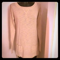 Faded Glory M (8-10) 100% cotton cute long sleeve Faded Glory size M (8-10) 100% cotton cute long sleeve RN# 104386 color: wheat heather style: FL43010 UPC# 8 4576800327 made in China only worn once. EUC Faded Glory Tops