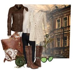 I like the layering of the shirts and jacket, the butterfly choker, the key pendent and the glasses. Casual Steampunk, Steampunk Corset, Steampunk Costume, Steampunk Clothing, Steampunk Fashion, Boho Fashion, Vintage Fashion, Fashion Outfits, Mom Outfits