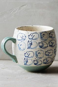 Cat Study Mug by Leah Goren #anthrofave