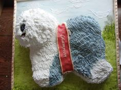Old english sheepdog cake made to look like a picture
