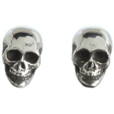 King Baby Studio Skull Post Earrings ($115) ❤ liked on Polyvore