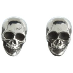 King Baby Studio Skull Post Earrings ($115) ❤ liked on Polyvore