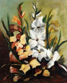 """Anita Catarina Malfatti (Brazilian, 1889-1964) - """"Gladíolos (palmas de Santa Rita)"""""""