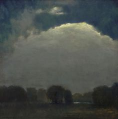 Night Lament- Oil Painting by Peter Campbell Western Art, Trail, Clouds, Paintings, Sculpture, Night, Gallery, Artist, Inspiration