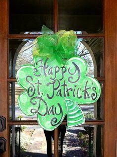 St Patrick's Day Clover by BronwynHanahanArt on Etsy, $45.00