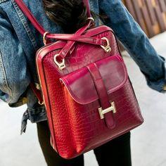 Nueva llegada bolsos 2014 de la alta calidad del morral de cuero de moda las mujeres mochilas mujeres dama hombro AB032 en Mochilas Casuales de Bolsos y Maletas en AliExpress.com   Alibaba Group
