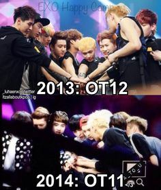 EXO on Happy Camp; Difference between 2013 and 2014 ....   /////3 pic.twitter.com/GHifGrx7OZ