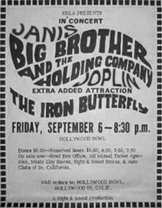 6.9.1968; big brother and the holding company - iron butterfly; usa, l.a., hollywood bowl; (db) (t)