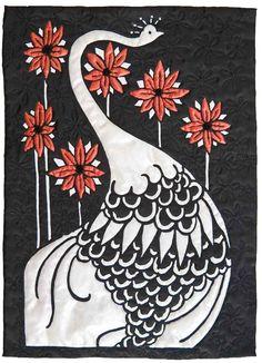 Aubrey Beardsley based peacock piece by Shirley Anne Sherris (UK)
