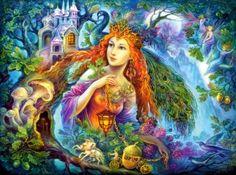 Artwork by Josephine Wall Josephine Wall, Fantasy Kunst, Fantasy Art, Fantasy Queen, Fantasy Images, Cross Paintings, Resin Paintings, Art Uk, Russian Art
