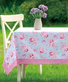 Love this Peking Handicraft Blue Darla Tablecloth on #zulily! #zulilyfinds