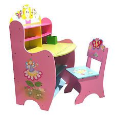 Details About KIDS STUDY DESK U0026 CHAIR FAIRY CHILDRENS TABLE CUBBY HOUSE  WOODEN TABLE | Kids Study Desk, Kids Study And Cubby Houses