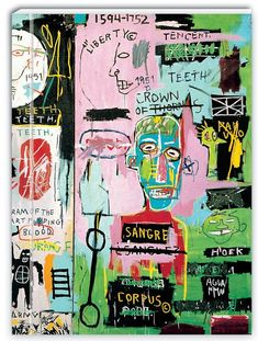 Basquiat et Egon Schiele s'invitent en 2018 à la Fondation Vuitton ! Jean Michel Basquiat Art, Jm Basquiat, Basquiat Prints, Fondation Louis Vuitton, Basquiat Paintings, Heart Diagram, Gagosian Gallery, Hip Hop, Creative Skills