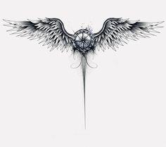 Arm tattoo, wing tattoos on back, chest tattoo, map tattoos, spine tattoos Map Tattoos, Eagle Tattoos, Spine Tattoos, Body Art Tattoos, Sleeve Tattoos, Tattoo Art, Eagle Back Tattoo, Tattoo Quotes, Shoulder Tattoos