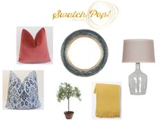 SwatchPop! living room styling. How to add a pop of color to a neutral room. New website solves your design dilemmas! Get professional design advice delivered to your inbox for only $49.95!