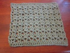Double Lace Washcloth free pattern from Little House in the Suburbs