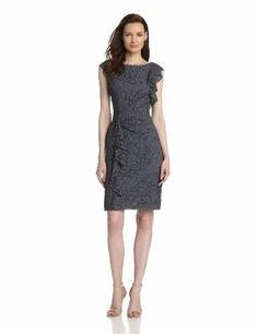 Lace Dress -  Pin It :-) CLICK IMAGE TWICE for Pricing and Info .. SEE A LARGER SELECTION of lace dresses at http://azdresses.com/category/dress-categories/dresses-by-type/lace-dress/ - women, womens fashion,dress,womens dresses, holiday fashion  -    Adrianna Papell Women's Lace Ruffle-Front Dress « AZdresses.com
