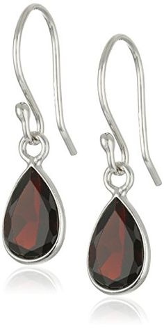 10k Rose Gold 8mm Cushion Garnet Lever Back Earrings Casual Jewelry Pinterest Modern And