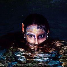 Evil Mermaid Makeup Tutorial #beautiful