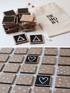 Do it yourself: craft a wooden letterboard in a scandi look - # milk cartons . - Do it yourself: craft a wooden letterboard in a scandi look – # Milchtütenupcycling - Kids Crafts, Diy And Crafts, Cool Diy, Memory Crafts, Ideias Diy, Cardboard Crafts, Cardboard Boxes, Diy Games, Wood Toys