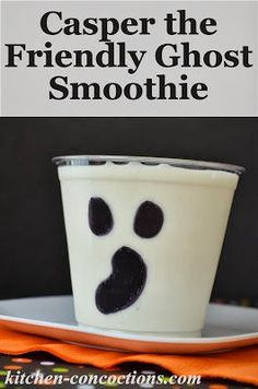 Casper the Friendly Ghost Smoothie for #HalloweenMovieNight