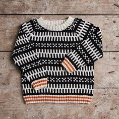 Mads Nørgaard Babytrøje, sort/hvid