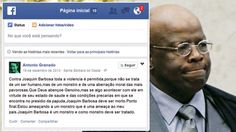 """PROCURADO- A PF tenta descobrir a identidade de um tal """"Antonio Granado"""", que incita os militantes a atentar contra a vida do ministro"""