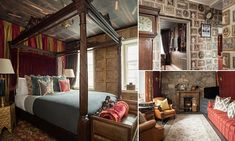 Situated in Edinburgh - the birthplace of J.K. Rowling's famous books - the magical property is the brainchild of Harry Potter superfan Yue Gao, who has filled it with Hogwarts-style furniture and fittings.