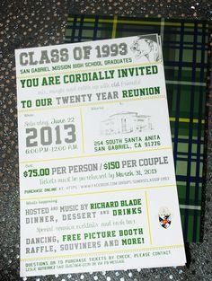 Someone else's Class Reunion - MHS Class of 93 - Reunion invite (same colors as our school) Mission High School, Miami High School, High School Class Reunion, 10 Year Reunion, The Reunion, High School Classes, Class Reunion Invitations, Class Reunion Decorations, San Gabriel