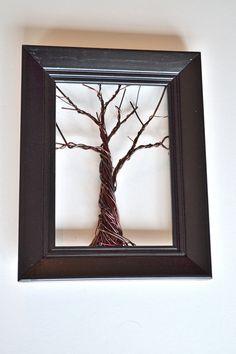Framed Wall Art Jewelry  Organizer Holder Wire Winter Tree -Useful wire Art on Etsy, $40.00 WANT!