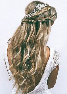 45 best wedding hairstyles for long hair 2018 pinterest wedding wedding hairstyles for long hair half up junglespirit Images