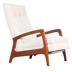 Adrian Pearsall Reclining Lounge Chair for Craft Associates | From a unique collection of antique and modern lounge chairs at https://www.1stdibs.com/furniture/seating/lounge-chairs/