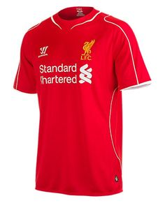 Warrior Liverpool Home Jersey Main body fabric recycled S-Caf® polyester, polyester panels and trim. Fully embroidered Warrior logo and LFC crest Liverpool Fc Shop, Liverpool Football Kit, Liverpool Home, Football Kits, Premier League, Jersey Atletico Madrid, Boys Home, Soccer Shop, Outfit