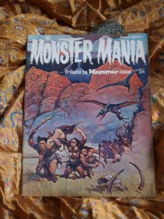 Monster Mania No 2 Issued 1967 Frank Frazetta Frankenstein Dracula LIving Dead Hammer Films Christopher Lee Harryhausen Animation  Monster Mania January 1967 Vol 1, No. 2. 11 inches x 8 inches. Published by Rennaissance Productions.  Fantastic tribute issue to Hammer Films, Christopher Lee, and Ray Harryhausen. Total of 68 pages including covers - spectacular Frank Frazetta cover. Lots of incredble stills.: Articles: * Horror Is My Business. A candid interview with Terence Fisher, Hammers…