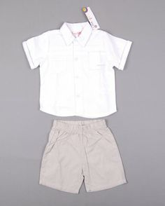 Conjunto 2 piezas camisa y pantalón corto a rayas marca Valenri http://www.quiquilo.es/catalogo-ropa-segunda-mano/conjunto-2-piezas-camisa-mc-y-pantalon-corto-a-rayas-en-color-blanco-marca-valenri.html