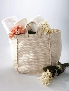 Crochet your own tote bag to go with any outfit with this free pattern. This quick and easy bag is both adorable and practical because it is strong, durable, and large enough to hold all of your essentials.