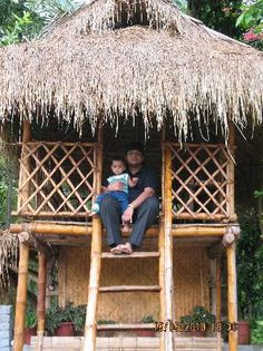 Bamboo huts #THAI #HOMES Home Structure, Bamboo Structure, Bahay Kubo Design Philippines, Resort Plan, Bamboo Building, Hut House, Garden Pavilion, Bamboo Architecture, Bamboo House