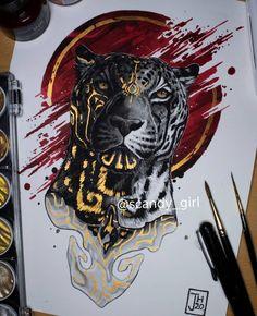 Animal Paintings, Animal Drawings, Cool Drawings, Art And Illustration, Mural Art, Fantastic Art, Animal Tattoos, Creature Design, Ink Art