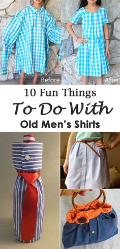 10 Creative and Cool Ways to Reuse Old Men's Shirts