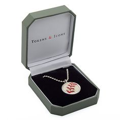 Boston Red Sox Game Used Baseball Pendant by Tokens & Icons - MLB.com Shop