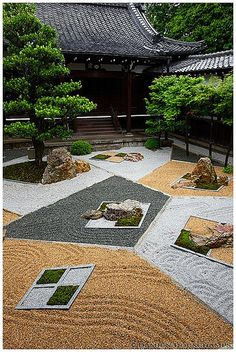 A modern ZenGarden at Shinnyo-do(真如堂) in Kyoto, Japan. Garden designed by Chisao Shigemori A modern ZenGarden at Shinnyo-do(真如堂) in Kyoto, Japan. Garden designed by Chisao Shigemori Japanese Rock Garden, Zen Rock Garden, Zen Garden Design, Garden Stones, Japanese Gardens, Bambu Garden, Garden Villa, Japan Garden, Kyoto Garden