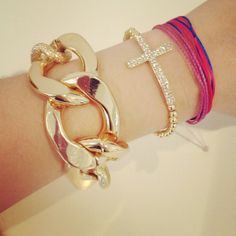 LUX Gold Chain Link Bracelet by derng on Etsy, $31.00