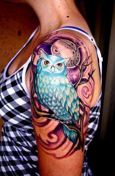 Owl Arm Tattoos for Women tobiastattoo.com #Arm #Women #tattoos