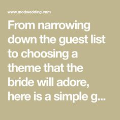 From narrowing down the guest list to choosing a theme that the bride will adore, here is a simple guide to bridal shower planning and basic etiquette rules.