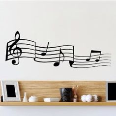 Wall sticker music room