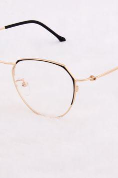 Black and Gold Prescription Glasses Frames, Fashion Eye Glasses, Square Faces, Face Framing, Womens Glasses, Sarcasm, Eyeglasses, Eyewear, Glamour