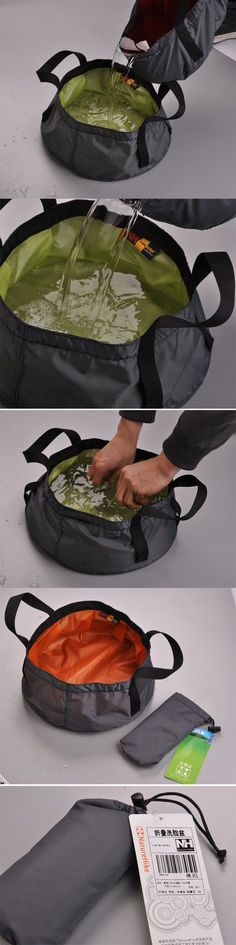 Instant water container (roll for hiking)