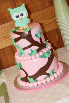 Owl cake -- so cute!