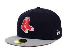 fe652e741b4 Boston Red Sox New Era MLB Team Heather 59FIFTY Cap Hats Sock Store