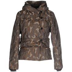 Le Casual De Marithé + François Girbaud Down Jacket (2 490 SEK) ❤ liked on Polyvore featuring outerwear, jackets, grey, turtleneck jacket, grey jacket, gray jacket, gray turtleneck and camouflage jacket